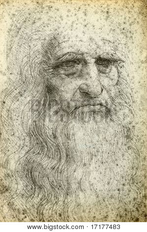 Leonardo da Vinci Self-Portrait, 1512
