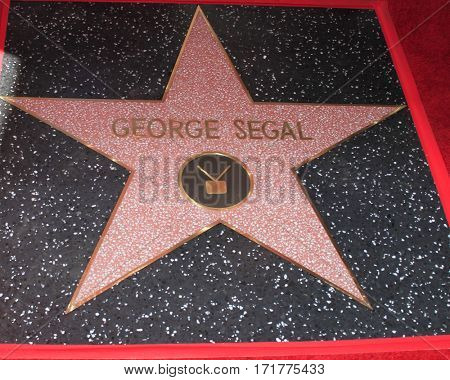 LOS ANGELES - FEB 14:  George Segal Star at the George Segal Star Ceremony at the Hollywood Walk of Fame on February 14, 2017 in Los Angeles, CA
