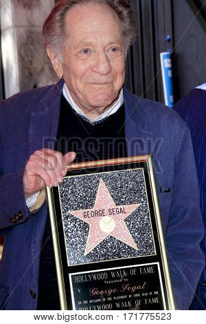 LOS ANGELES - FEB 14:  George Segal at the George Segal Star Ceremony at the Hollywood Walk of Fame on February 14, 2017 in Los Angeles, CA