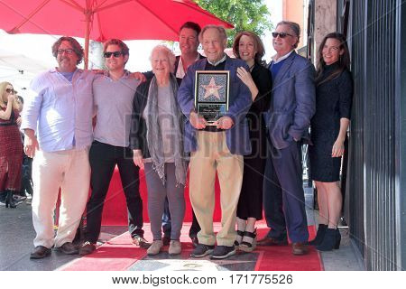 LOS ANGELES - FEB 14: George Segal and familyl at the George Segal Star Ceremony at the Hollywood Walk of Fame on February 14, 2017 in Los Angeles, CA