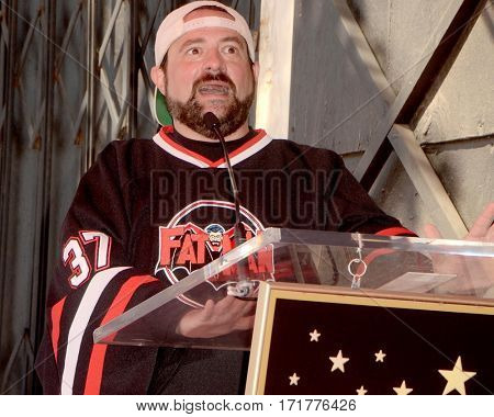 LOS ANGELES - FEB 14:  Kevin Smith at the George Segal Star Ceremony at the Hollywood Walk of Fame on February 14, 2017 in Los Angeles, CA