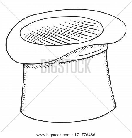 Vector Single Sketch Cylinder Hat