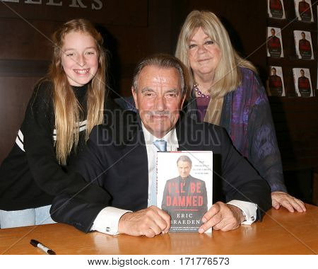 LOS ANGELES - FEB 13:  Tatiana Gudegast, Eric Braeden, Dale Gudegast at the