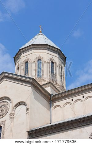 The Kashveti Church of St. George in central Tbilisi, located on Rustaveli Avenue