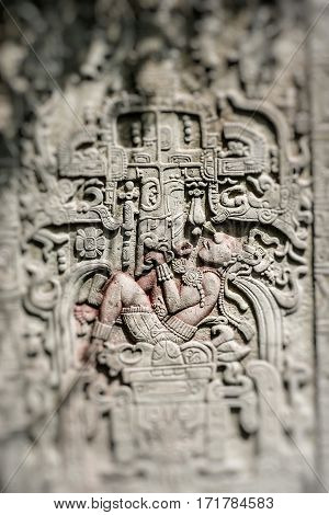Mexico Temple Carving Arts in Tulum, Mexico