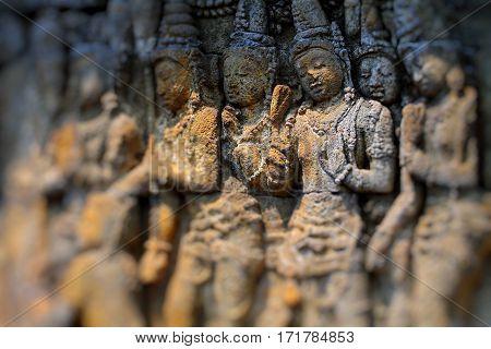 Borobudur Temple Carving Arts in Yogyakarta, Indonesia