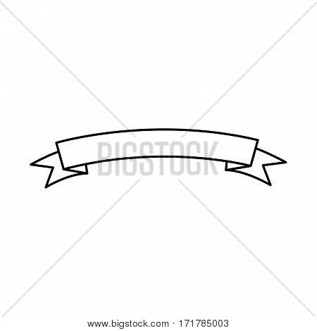 silhouette label with ribbon icon design vector illustration