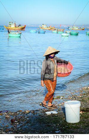 Mui Ne Fishing Village In Phan Thiet, Vietnam