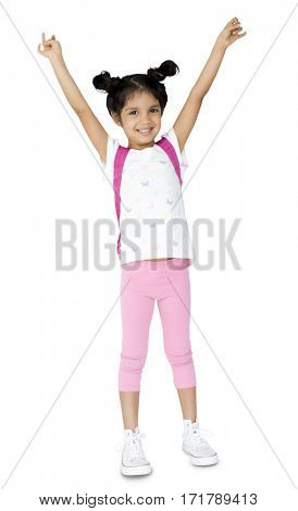 Child Kid Girl Cheerful Pleasure Enjoy Playful