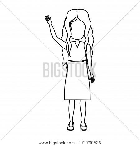 people girl icon image, vector illustration stock design