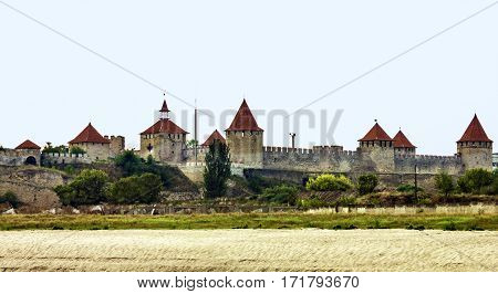 Moldova, Transdniestria, old Turkish fortress on the river Dniester in town Bender