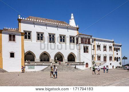 Sintra, Portugal - Jan 3, 2017: Sintra National palace, Portugal