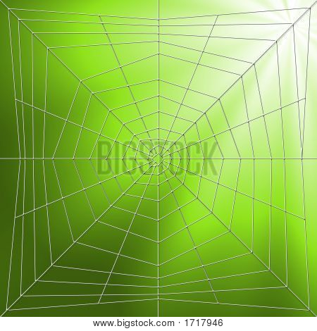 Spider web illustration and for abstract designs poster