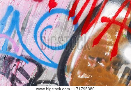 Graffiti wall urban art concrete wall background