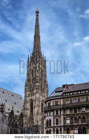 Vienna, Austria - Jan 4, 2017: Saint Stephan cathedral church in Vienna, Austria