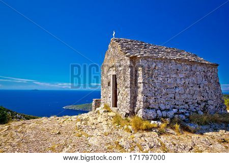 Scenic Chapel On Top Of Vis Island