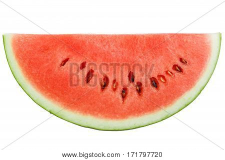 Slice of watermelon on white background, Fresh watermelon group isolated on white, clipping path included
