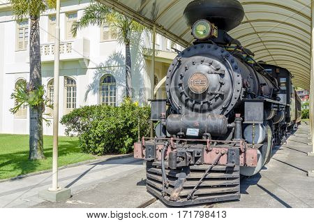 VILA VELHA BRAZIL - DECEMBER 30th 2016 ; Railway Museum in the city of Vila Velha Espírito Santo located in the old Pedro Nolasco Station of the Vitória-Minas railway.