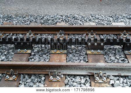Rack railway or Cog railway of Jungfraubahn in Switzerland