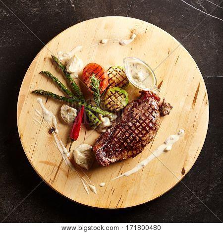 Beef Steak - BBQ Strip Steak (Grilled Beef Strip Loin Steak)
