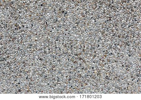 background of horizontal part of concrete tile with gravel top