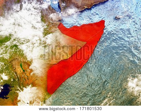 Somalia On Illustrated Globe