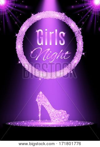 Vector illustration of girls Night party design.