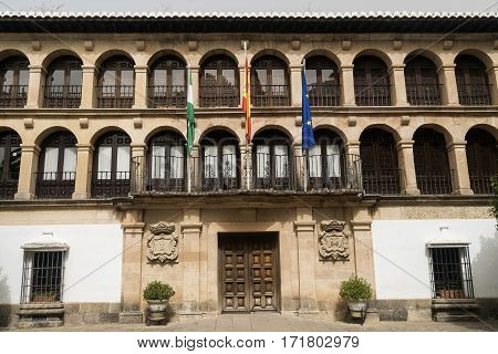Ronda (Andalucia Spain): facade of the Ayuntamiento historic town hall