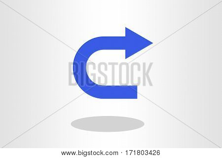 Illustration of u turn sign against plain background