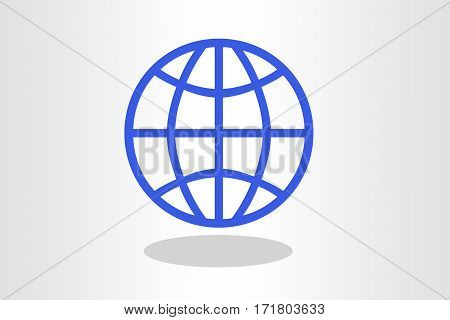 Illustration of blue world against plain background