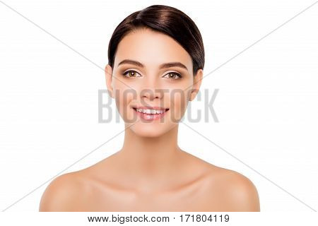 Portrait Of Beautiful Perfect Healthy Woman With Beaming Smile