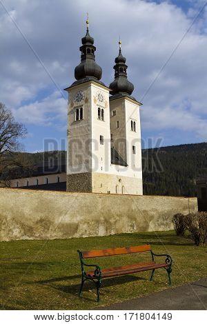 Gurk Cathedral is a Romanesque pillar basilica in Gurk