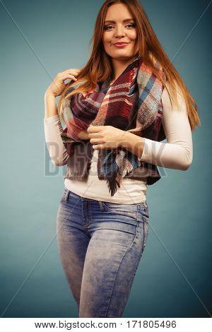 Beautiful Model Posing At Studio.