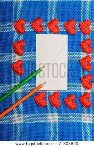 Set Of Valentines Love Symbol And Paper