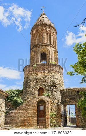 bell tower of St George Church in Sighnaghi, Kakheti region, Georgia