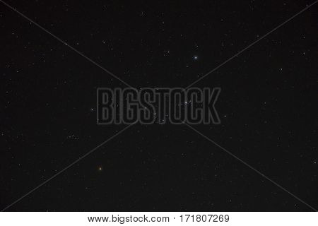 An image of the night sky with orion