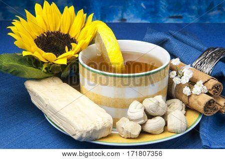 Green Tea And Small Sweets Ecuadorians