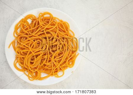 Hot Red Paste On Beautiful Plate