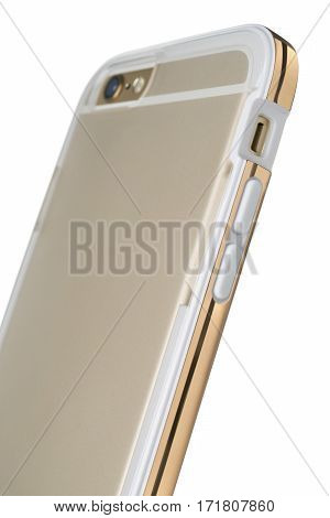 Rear View Of Smartphone In Translucent Plastic Protective Case