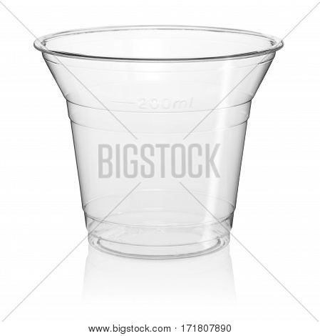 Cut Out Of A Clear Disposable Plastic Cup