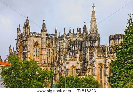 Batalha Dominican medieval monastery, Portugal - great masterpieces of Gothic art. UNESCO World Heritage