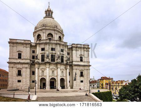 Lisbon, Portugal - Jan 8, 2017: National Pantheon church