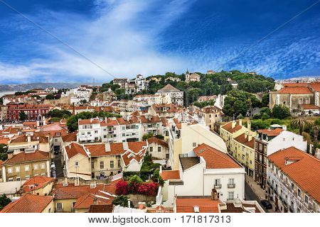 Lisbon city Portugal. Housing architectural view, Lisboa