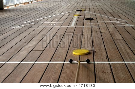 Shuffleboard Playing On A Cruise Ship 2
