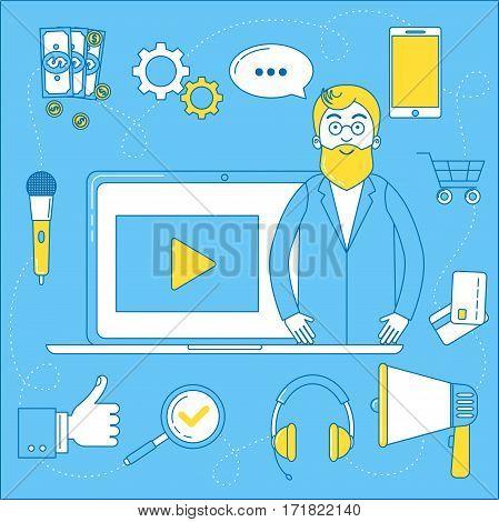 Video Blogger Illustration.