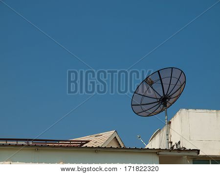 satellite at home Technology with connected entertainment.
