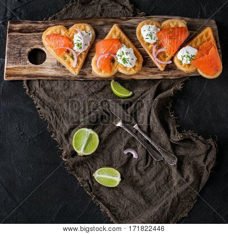 Wafer With Salted Salmon