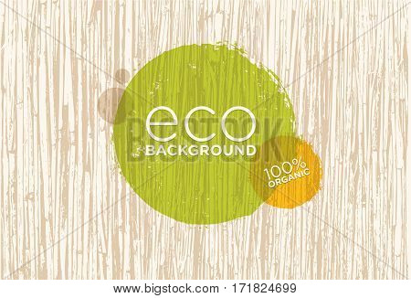 Spa Retreat Organic Eco Background. Nature Friendly Vector Concept.