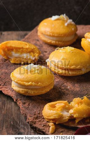 Citrus Macaroons With White Chocolate