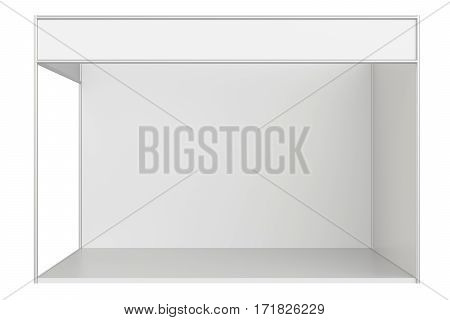 Template for easy presentation of a standard stand. 3d rendering